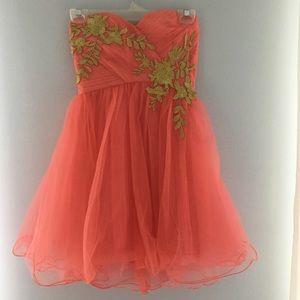 Peach Homecoming Dress